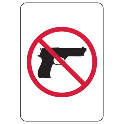 Kansas Concealed Carry Signs - No Guns Symbol