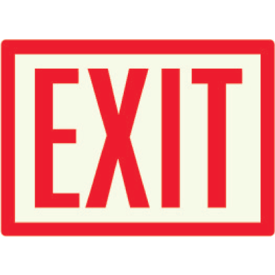 Exit - Photoluminescent Sign