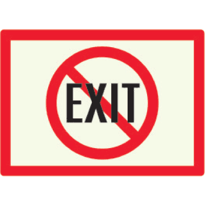 Non-Exit - Photoluminescent Sign