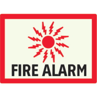 Fire Alarm - Photoluminescent Sign