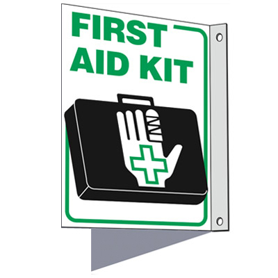 First Aid Kit - 2-Way First Aid Sign