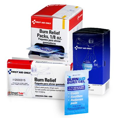 First Aid Only® Burn Relief Gel, Pack and Refill Bundle