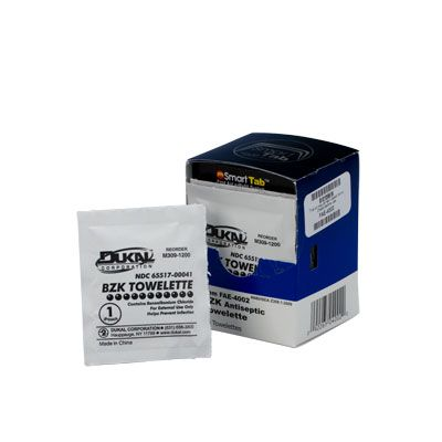 First Aid Only™ SmartCompliance™ BZK Antiseptic Towelettes FAE-4002
