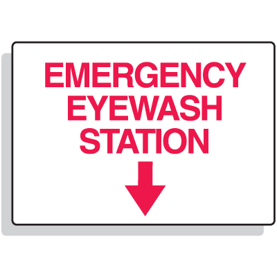 Eyewash Signs - Emergency Eyewash Station