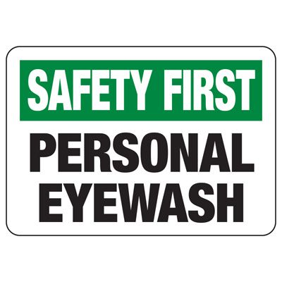 Safety First Signs - Personal Eyewash