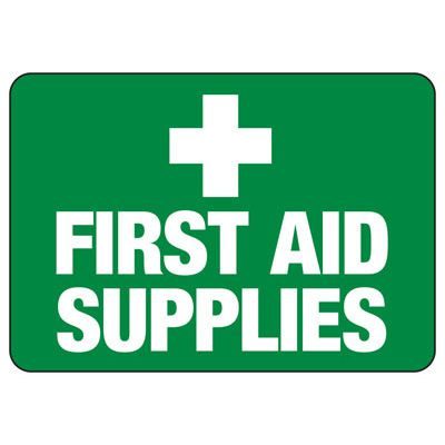 First Aid Supplies - First Aid Signs