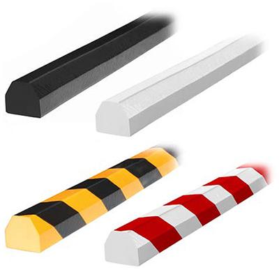 Flat Surface D-Shape Bumper Guard - 1-1/2W x 1-1/2H x 16-2/5'L