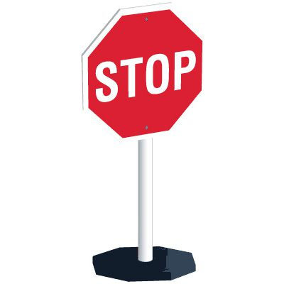 Flexible Portable Stop Sign System