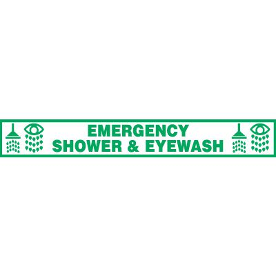Emergency Shower & Eyewash Floor Label