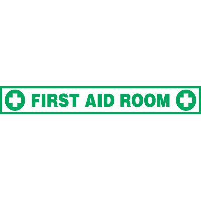 First Aid Room Floor Label