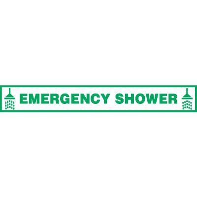 Emergency Shower Floor Label