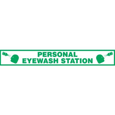 Person Eyewash Station Floor Label
