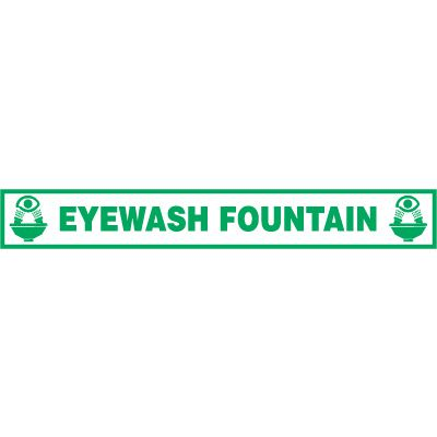 Eyewash Fountain Floor Label