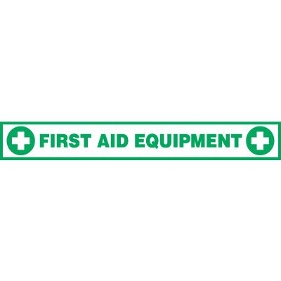 First Aid Equipment Floor Label
