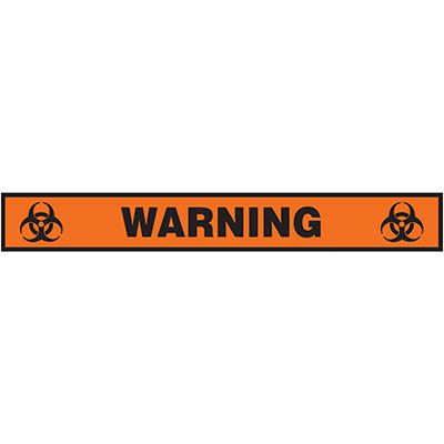 Floor Label- Warning Biohazard