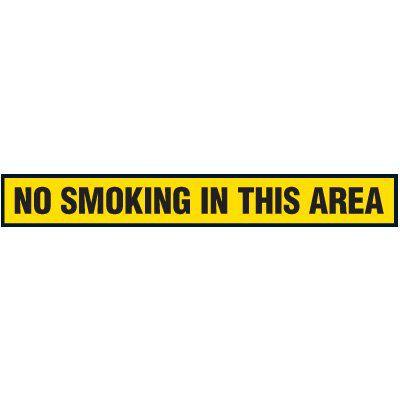 No Smoking In This Area - Floor Marking Strips