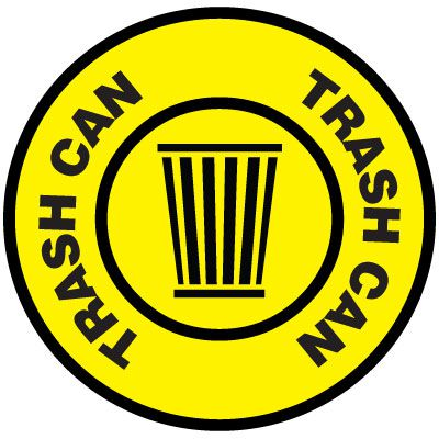 Floor Signs - Trash Can