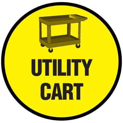 Floor Signs - Utility Cart