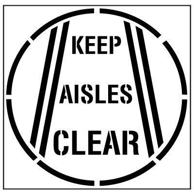 Large Floor Stencils - Keep Aisles Clear