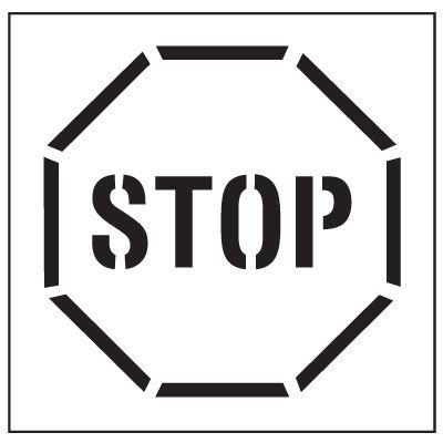 Large Floor Stencils - STOP