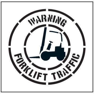 Large Floor Stencils - Warning Forklift Traffic