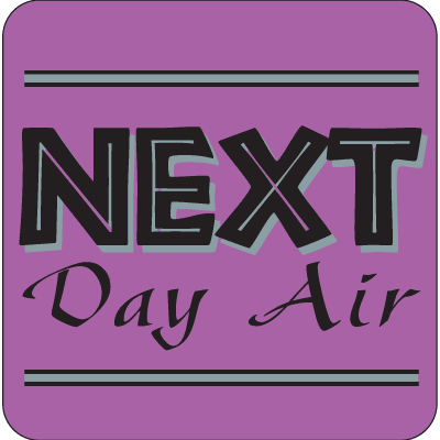 Next Day Air Fluorescent Attention Getting Labels