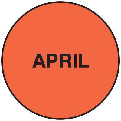 Fluorescent April Dot Labels
