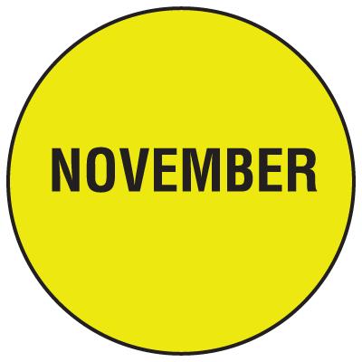 Fluorescent November Dot Labels