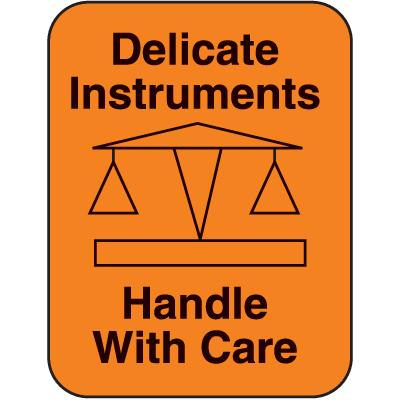 Delicate Instruments Fluorescent Handling Labels