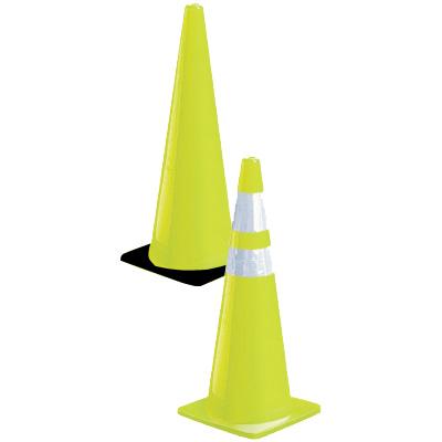 Fluorescent Lime Traffic Cones