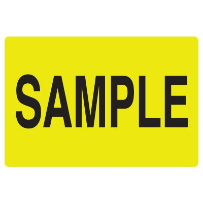 Fluorescent Warehouse & Pallet Labels - Sample