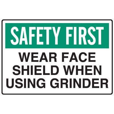 Food Industry Safety Signs - Safety First Wear Face Shield