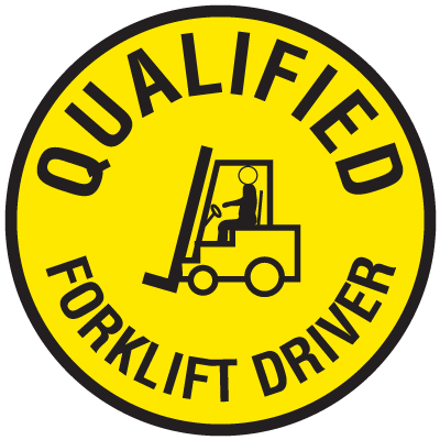 Forklift Certification Label - Qualified