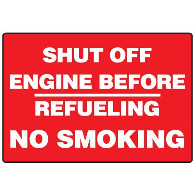 Forklift Safety Signs - Shut Off Engine