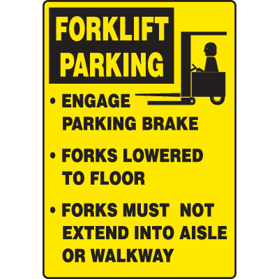 Forklift Parking Traffic Signs
