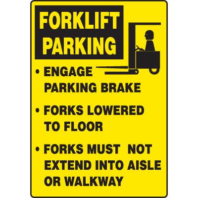 Forklift Parking Traffic Signs