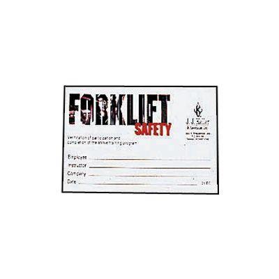 JJ Keller Forklift Training Wallet Cards 15910 , 15911