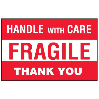Fragile Labels - Fragile Thank You