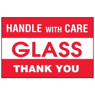 Fragile Labels - Handle With Care Glass