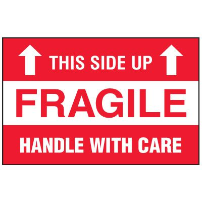 Fragile Labels - This Side Up Fragile