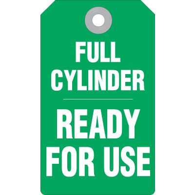 Full Cylinder Ready For Use - Production Status Tags