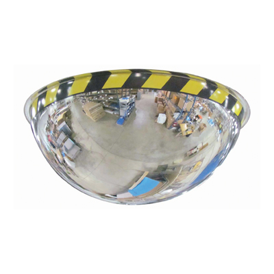 Full Dome Acrylic Security Mirror with Safety Border