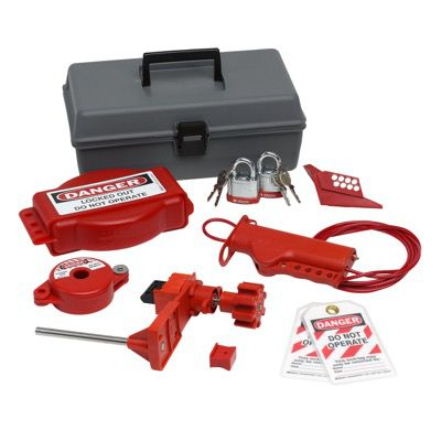 Brady Valve Lockout Toolbox Kit With Brady Steel Padlocks & Tags - Part Number - 99324 - 1/Each