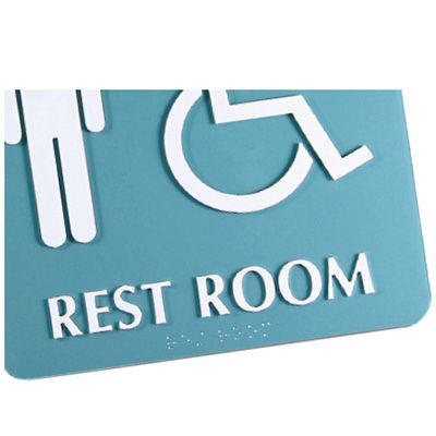 Gender Neutral (Dynamic Accessibility) - Optima ADA Restroom Signs