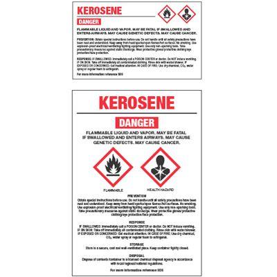 GHS Chemical Labels - Kerosene