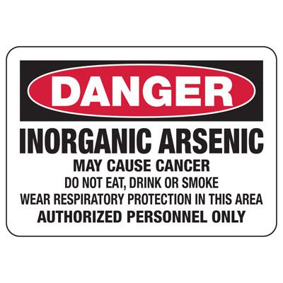 Mandatory GHS Safety Signs - Danger - Inorganic Arsenic