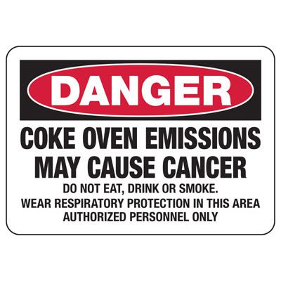 Mandatory GHS Safety Signs - Danger Coke Oven Emissions