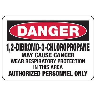 Mandatory GHS Safety Signs - Danger 1,2-Dibromo-3-Chloropropane