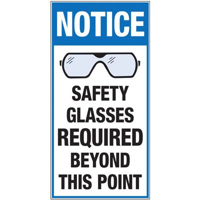 Giant Instructional Wall Graphics - Safety Glasses Required