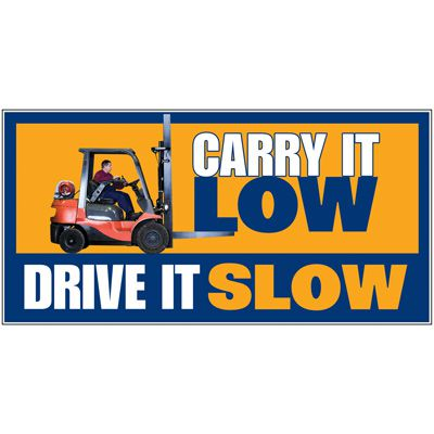 Giant Motivational Wall Graphics - Carry It Low Drive Slow